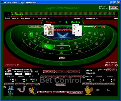 Baccarat logic development table