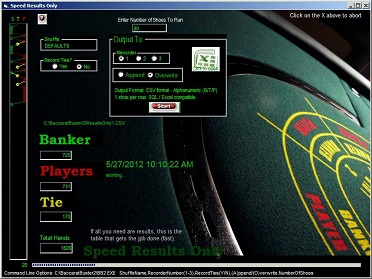 Baccarat betting logic setup