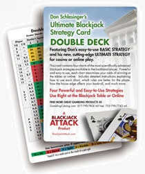 Double Deck Blackjack Basic Strategy Card