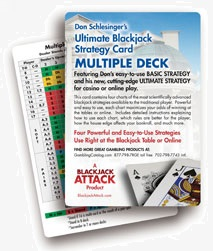 Multi-deck Blackjack Basic Strategy Card