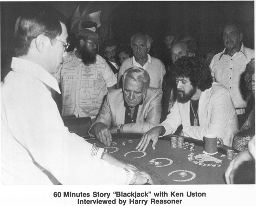 Ken Uston with Harry Reasoner during the 60 Minutes story that aired in 1981 on CBS.